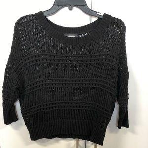Black sheer dolman sweater